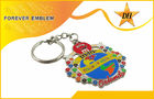 Hard Enamel Metal Promotional Keychains Silver Imitation For Business Gifts